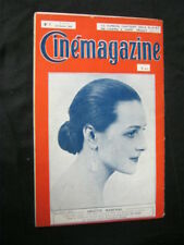 FEB 15, 1924 FRENCH CINEMAGAZINE Uncut Complete 37 pgs