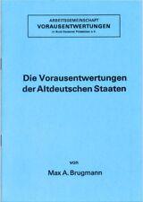 Preo Precancel Broschüre Die Vorausentwertungen der Altdeutschen Staaten