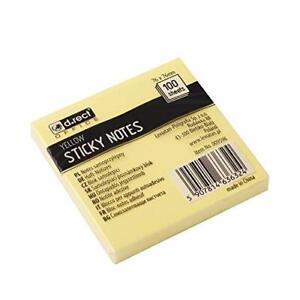 Wholesale Job Lot 50 x Post It Style Sticky NotePads 100 Sheets Per Pad 76 x 76m