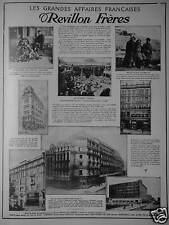 PUBLICITÉ 1915 FOURRURES REVILLON FRÈRES LES GRANDES AFFAIRES FRANÇAISES