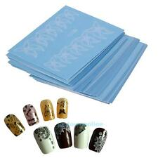 48 Sheets Flower Lace Nail Art Water Transfer Decals Stickers Manicure DIY Decor