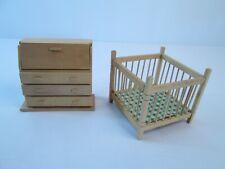 # rülke 22013 Baby Playpen Rustic Wood 1:12 for Dollhouse NEW