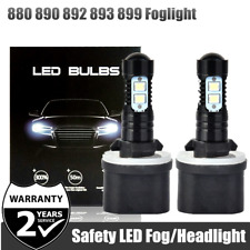 2x 880 890 892 893 899 LED Foglight Chips CREE 100W 6000K Xenon White Bulbs
