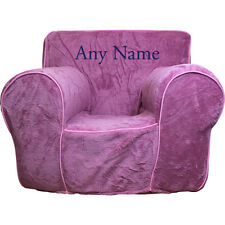 Insert For Pottery Barn Anywhere Chair + Pink Plush Cover Reg Embroidered Blue