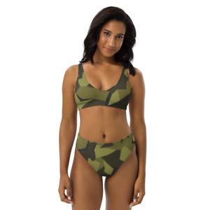 Allover High Waist Bikini Swedish Camo teilweise aus Recyclingmaterial XS-XXXL