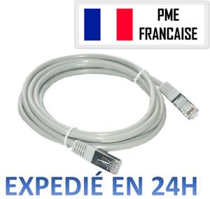 Cable ETHERNET RJ45 RÉSEAU INTERNET ORDINATEUR CONSOLE 1m 2m 5m 10m PS4 PS5 XBOX