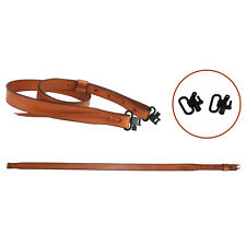 """Tourbon Clay Shooting Genuine Leather Shotgun Sling Straps (1"""" Swivels Included)"""
