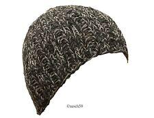 Mütze Strickmütze Beanie Wollmütze Cap Melange schwarz grau Herren Skimütze  H7