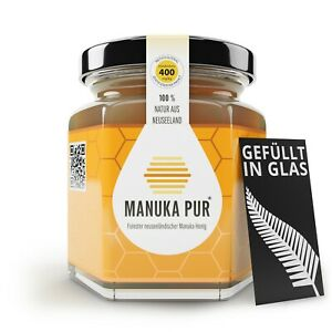 Manuka Honig MGO 400 | NEU | im Glas | Pur aus Neuseeland | MGO424 mg/kg | 500g