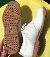 FOOTJOY Women's 7.5M Golf Course Shoes Comfort Softspike White Lace Up
