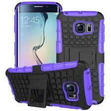 Case Cover Accessories Purple for Samsung Galaxy S6 Edge G925 G925F Cap Case