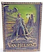 "VAN HELSING"" 3D resin wall/table PLAQUE by ""Code 3 Collectibles"" Date May 7 '04"