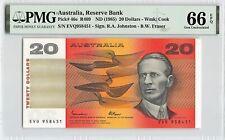 New ListingAustralia Nd (1985) P-46e Pmg Gem Unc 66 Epq 20 Dollars (Johnston-Fraser)