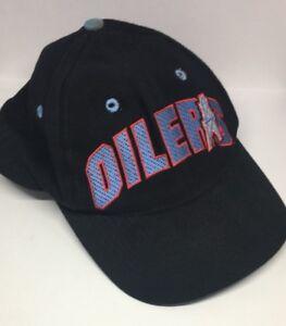 Vintage Houston Oilers Snapback NFL Football Baseball Hat Black Blue Red