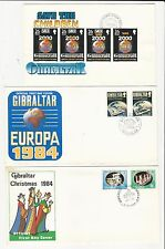 Gibraltar: Lot of 10 fist day covers different some light rust with high... GI19