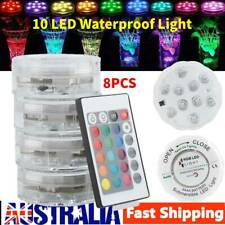 4x LED Underwater Light RGB 16 Color Swimming Pool Spa Lamp Remote Control Ip68