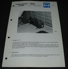 Technische Info Webasto Luftheizgerät HL 2011 MAN LKW Nahverkehrsfahrerhaus!