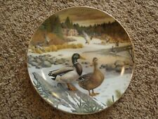 Living with Nature: Jerner's Ducks The Mallard Collectors Plate by Knowles