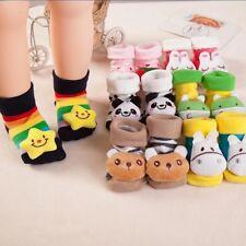 Baby Kids Girl Boy Anti-slip Socks Cartoon Slipper Shoes Soft Boots 0-12 Months