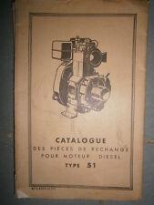 BERNARD : Catalogue pièces moteurs diesel 51 1961