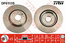 Fits Insignia 2.8 Turbo V6 4WD 08-14 Pair of Front Brake Discs 337mm vented
