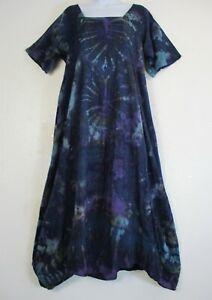 Lagenlook 100% Cotton Dress Pockets Autumn/Winter Sizes:S/M(12-16) L/XL(18-22)