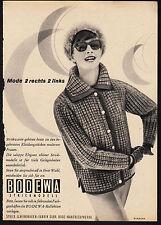 3w1860/ Alte Reklame von 1960 - BODEWA Strickwaren - Wanfried / Werra
