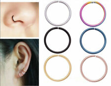 316L Surgical Steel Nose Ring Hoop Cartilage Tragus Helix Lip Ear Piercing Ring