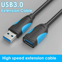 KQ_ GT- 0.5-3m USB 3.0 Male to Female Extension Cable High Speed Data Sync Cord
