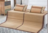 Bamboo sleeping mat foldable both size sheet rug floor mat cool 双面折叠金砖系列竹席凉席