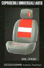 Coprisedile auto universale Momo Corse Sail grigio  Design sportivo italiano