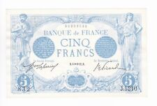 (Ref: J.832) 5 FRANCS BLEU 6 NOVEMBRE 1912 NEUF  (TRÈS RARE)