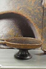 Holz Schale Bali Handarbeit Indonesien Braun Vintage Korb Etagere 28 cm