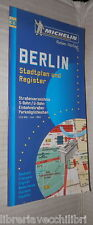 BERLIN Stadtplan und register Scala 1:15000 Guida Michelin Berlino Viaggi di e