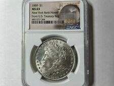 1889 $1 Morgan Silver Dollar New York Hoard NGC MS63