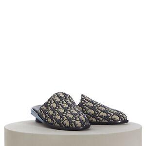 DIOR 830$ INDIOR Mule Sandals In Beige and Black Dior Oblique Jacquard