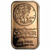 Lot of 20 - 1 oz Copper Bars Walking Liberty
