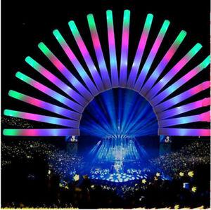100pcs/set Glow Stick Foam LED Light Up Flashing Rave Baton Party Concert Lot