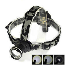 Rechargeable 4000LM  XM-L T6 LED Zoomable Headlamp Head Light Torch Flashlight B