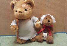 Boyds The Head Bean Collection Stuffed Bear Nurse & Other Patient Bear