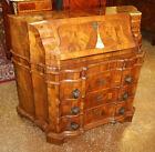 Gorgeous Italian Burl Walnut Rococo Style Slant Front Desk