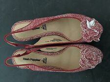 Hush Puppies Womens Sanguin Sling Court Shoes Red Fabric 5