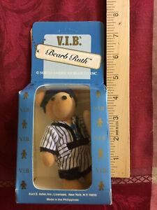 "Bearb Ruth the Babe Ruth bear, 5"" miniature NABCO VIP NIB never opened vintage"