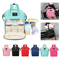 Mummy Maternity Nappy Bag Travel Backpack Baby Care Nursing Diaper Handbag