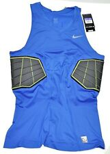 New Nike Pro combat Top Shirt padded Basketball Compression Blue 3XL hyperstrong