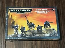 Warhammer 40k Space Marine Scout Squad with Sniper Rifles *New in Box*