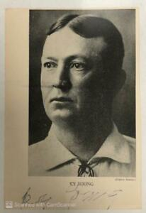 Cy Young Signed Autographed Paper Photo Photograph HOF JSA