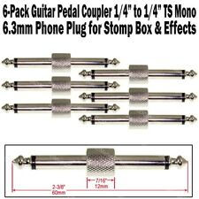 "6-Pack Guitar Pedal Coupler 1/4"" Male Plug Effect Stomp Box 6.3 Audio Phone"