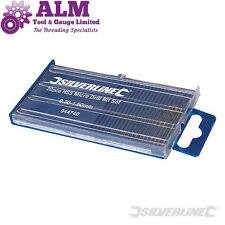 Silverline 20pce Micro HSS Precision Twist Drill Bit Set Size 0.3MM - 1.6MM