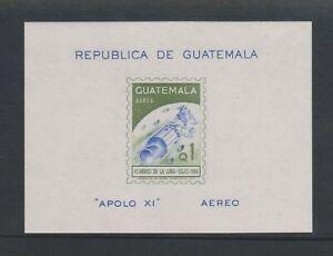 Guatemala - 1969, Air 1st Man on Moon, Apollo III Space sheet - MNH - SG MS883